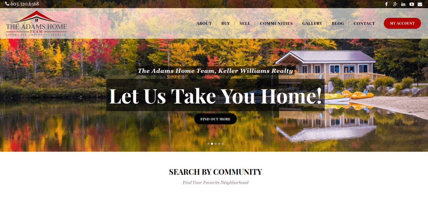 Keller williams website design